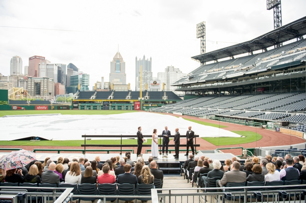 Wedding on the dugout PNC park